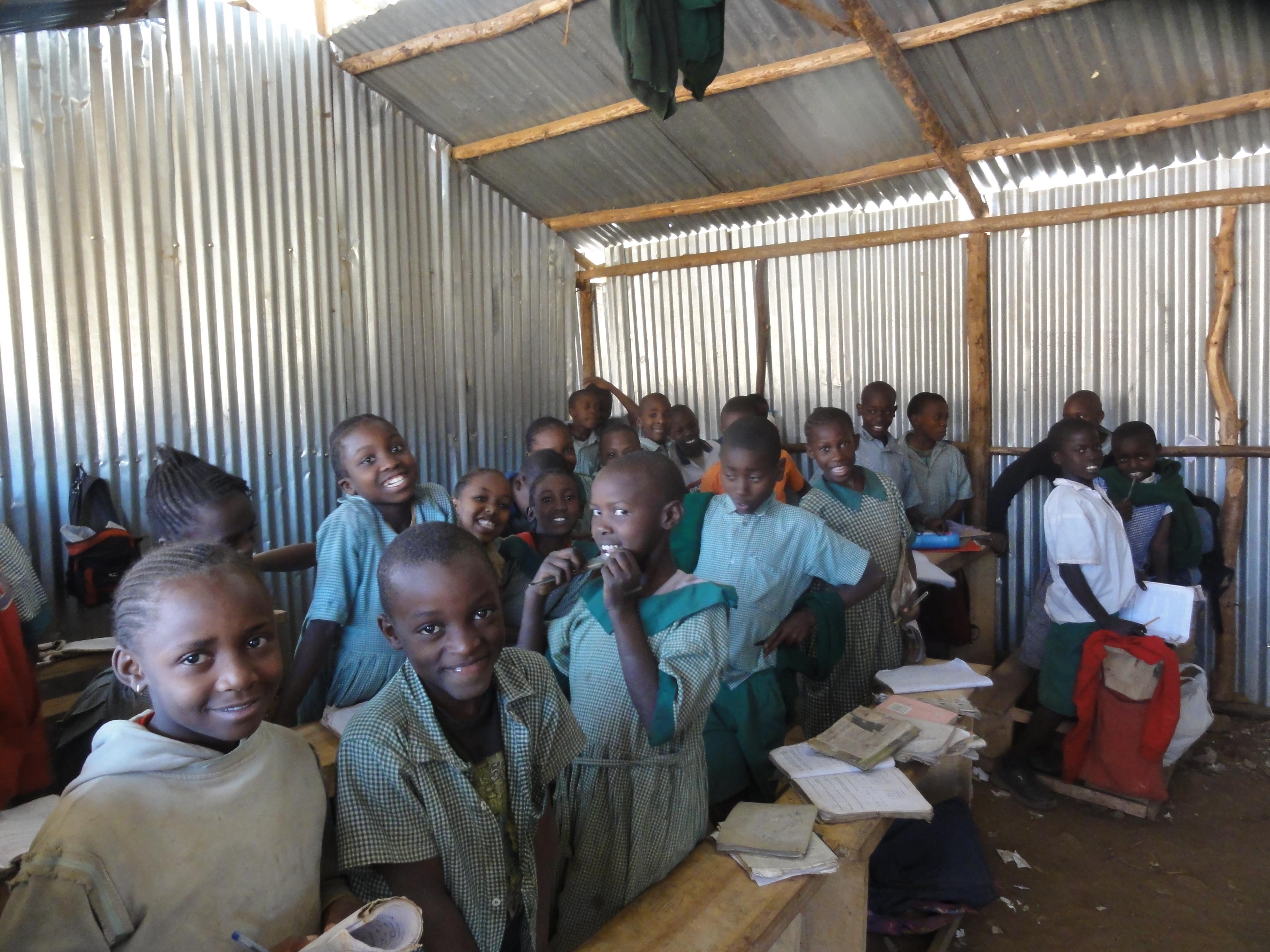 Class one pupils at a school in Kibera slums