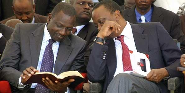 President Elect, Uhuru (L) and his deputy, Ruto.